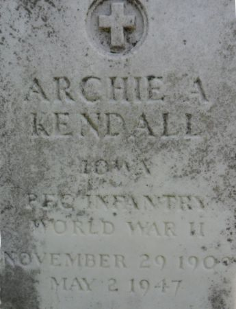 KENDALL, ARCHIE A. - Warren County, Iowa | ARCHIE A. KENDALL