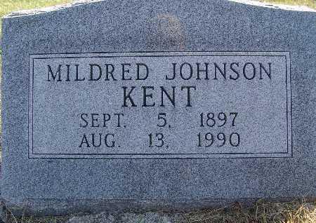 KENT, MILDRED JOHNSON - Warren County, Iowa   MILDRED JOHNSON KENT