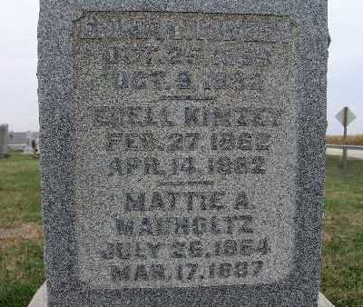 MAUHOLTZ, MATTIE A. - Warren County, Iowa | MATTIE A. MAUHOLTZ