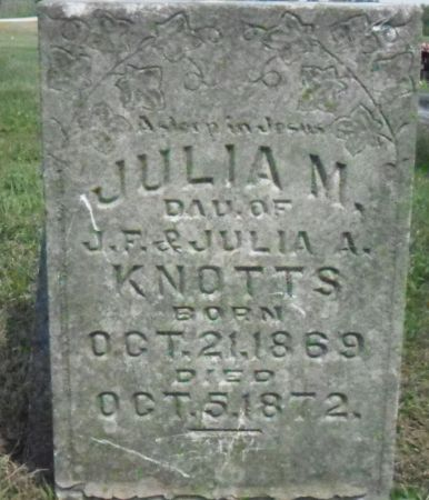 KNOTTS, JULIA M. - Warren County, Iowa   JULIA M. KNOTTS