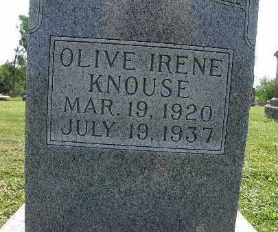 KNOUSE, OLIVE IRENE - Warren County, Iowa | OLIVE IRENE KNOUSE