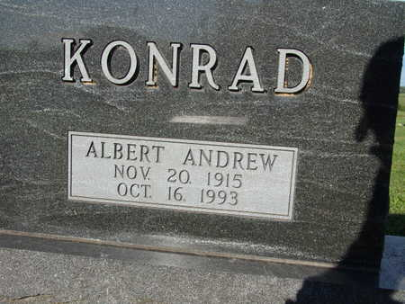 KONRAD, ALBERT ANDREW - Warren County, Iowa   ALBERT ANDREW KONRAD