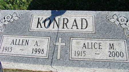 KONRAD, ALICE M. - Warren County, Iowa | ALICE M. KONRAD