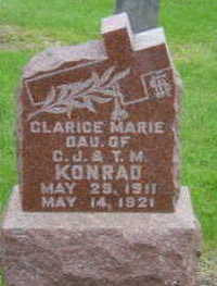 KONRAD, CLARICE MARIE - Warren County, Iowa   CLARICE MARIE KONRAD