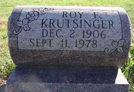 KRUTSINGER, ROY E. - Warren County, Iowa | ROY E. KRUTSINGER