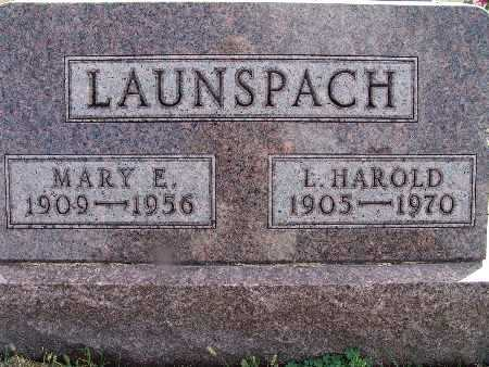 LAUNSPACH, MARY E. - Warren County, Iowa | MARY E. LAUNSPACH