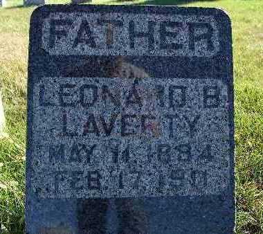 LAVERTY, LEONARD B. - Warren County, Iowa   LEONARD B. LAVERTY
