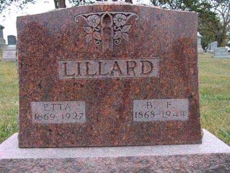 LILLARD, B. F. - Warren County, Iowa | B. F. LILLARD