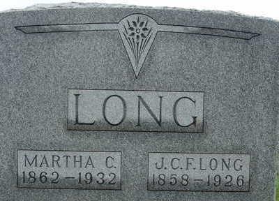 LONG, J C F LONG - Warren County, Iowa | J C F LONG LONG