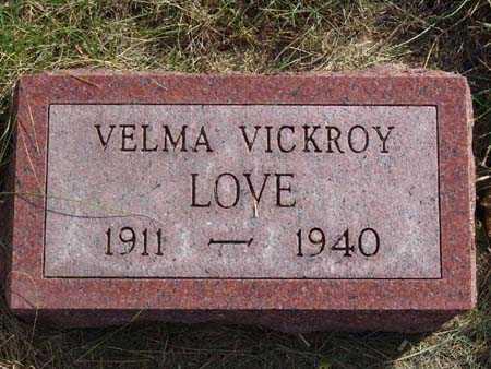 LOVE, VELMA VICKROY - Warren County, Iowa | VELMA VICKROY LOVE