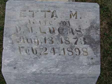 LUCAS, ETTA M. - Warren County, Iowa | ETTA M. LUCAS