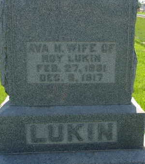 LUKIN, AVA M - Warren County, Iowa   AVA M LUKIN