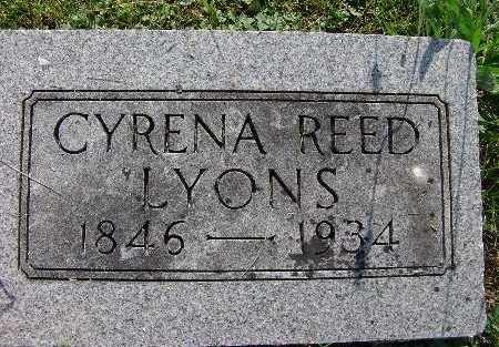LYONS, CYRENA REED - Warren County, Iowa   CYRENA REED LYONS