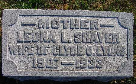LYONS, LEONA L. SHAVER - Warren County, Iowa | LEONA L. SHAVER LYONS