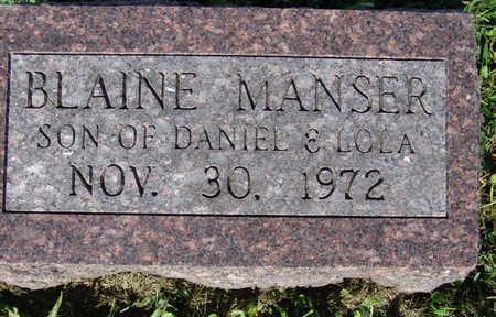 MANSER, BLAINE - Warren County, Iowa | BLAINE MANSER