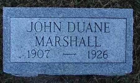 MARSHALL, JOHN DUANE - Warren County, Iowa | JOHN DUANE MARSHALL