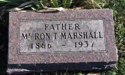 MARSHALL, MYRON T. - Warren County, Iowa | MYRON T. MARSHALL