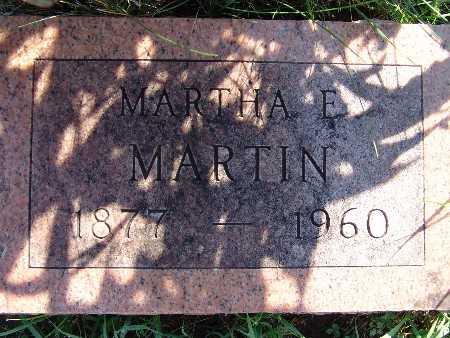 MARTIN, MARTHA E - Warren County, Iowa   MARTHA E MARTIN