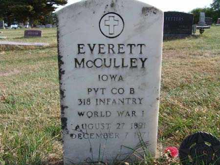 MCCULLEY, EVERETT - Warren County, Iowa   EVERETT MCCULLEY