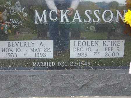MCKASSON, LEOLEN K. (IKE) - Warren County, Iowa | LEOLEN K. (IKE) MCKASSON