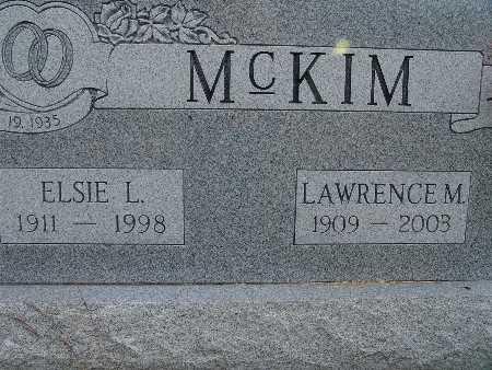 MCKIM, LAWRENCE M. - Warren County, Iowa   LAWRENCE M. MCKIM