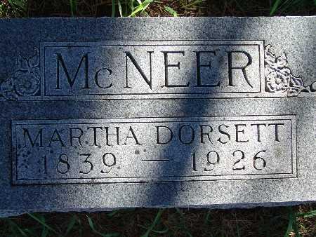 MCNEER, MARTHA DORSETT - Warren County, Iowa   MARTHA DORSETT MCNEER