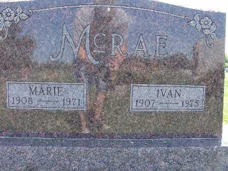 MCRAE, MARIE - Warren County, Iowa   MARIE MCRAE