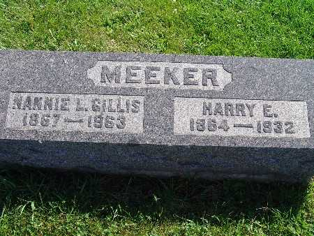 GILLIS MEEKER, NANNIE L - Warren County, Iowa | NANNIE L GILLIS MEEKER