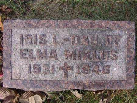 MIKLUS, IRIS L. - Warren County, Iowa | IRIS L. MIKLUS