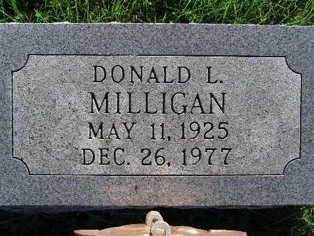 MILLIGAN, DONALD L. - Warren County, Iowa   DONALD L. MILLIGAN