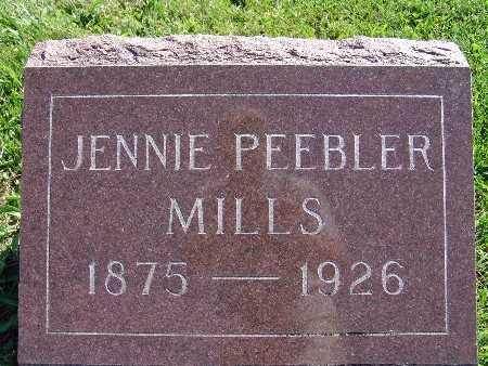 MILLS, JENNIE PEEBLER - Warren County, Iowa | JENNIE PEEBLER MILLS