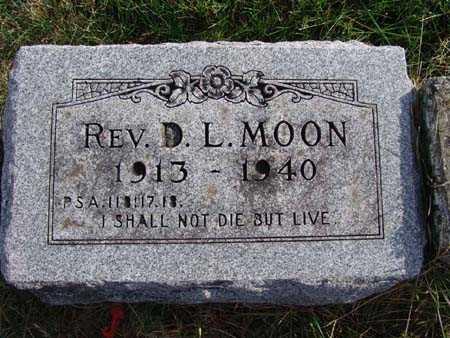 MOON, REV. D. L. - Warren County, Iowa | REV. D. L. MOON