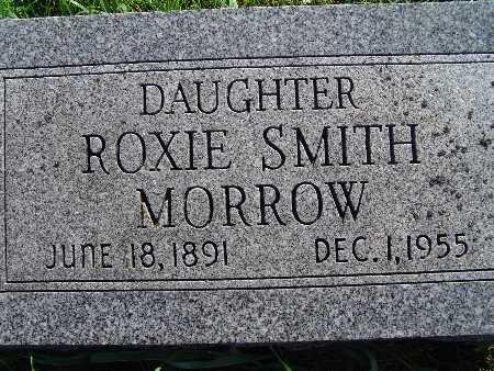 MORROW, ROXIE SMITH - Warren County, Iowa   ROXIE SMITH MORROW