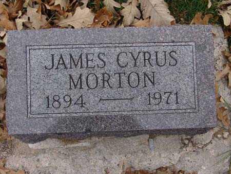 MORTON, JAMES CYRUS - Warren County, Iowa   JAMES CYRUS MORTON