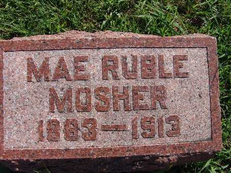 MOSHER, MAE RUBLE - Warren County, Iowa | MAE RUBLE MOSHER