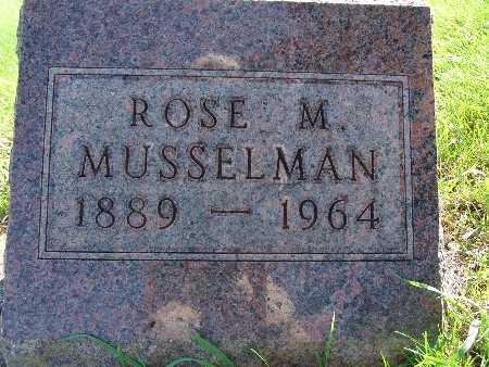 MUSSELMAN, ROSE M - Warren County, Iowa   ROSE M MUSSELMAN