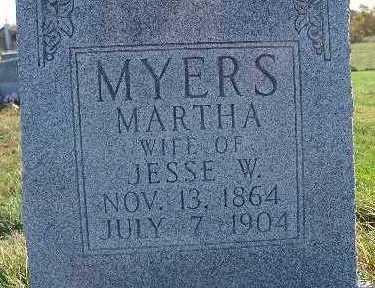MYERS, MARTHA - Warren County, Iowa   MARTHA MYERS
