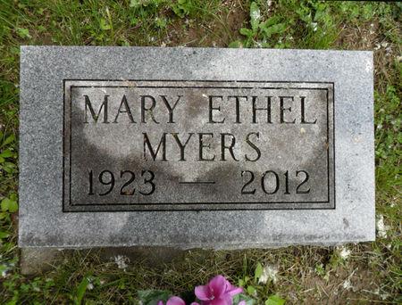 MYERS, MARY ETHEL - Warren County, Iowa | MARY ETHEL MYERS