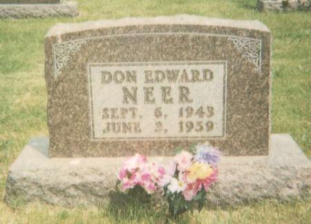 NEER, DON EDWARD - Warren County, Iowa | DON EDWARD NEER