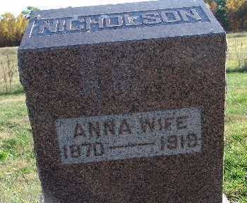NICHOLSON, ANNA - Warren County, Iowa   ANNA NICHOLSON