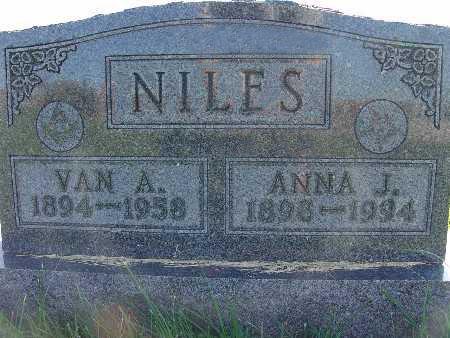 NILES, ANNA J. - Warren County, Iowa | ANNA J. NILES