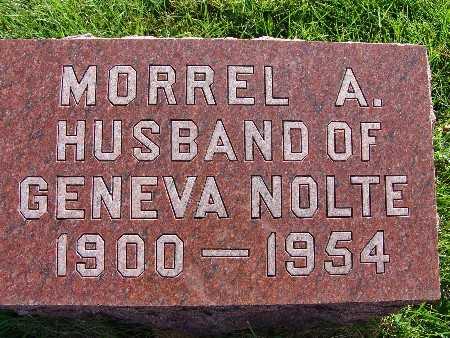 NOLTE, MORREL A. - Warren County, Iowa   MORREL A. NOLTE