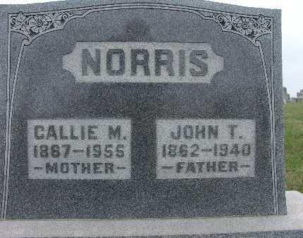 NORRIS, CALLIE M. - Warren County, Iowa | CALLIE M. NORRIS