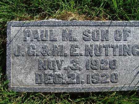 NUTTING, PAUL M. - Warren County, Iowa   PAUL M. NUTTING