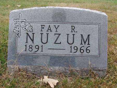 NUZUM, FAY R. - Warren County, Iowa | FAY R. NUZUM