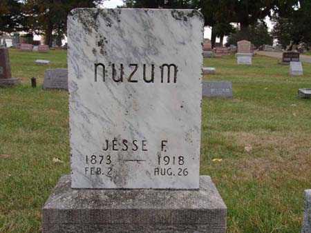 NUZUM, JESSE F. - Warren County, Iowa | JESSE F. NUZUM
