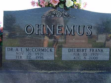 OHNEMUS, DR. A. L. MCCORMICK - Warren County, Iowa | DR. A. L. MCCORMICK OHNEMUS