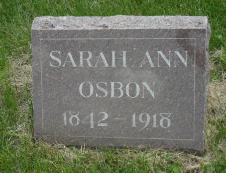 OSBON, SARAH ANN - Warren County, Iowa | SARAH ANN OSBON