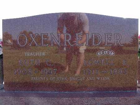 OXENREIDER, LOWELL E. - Warren County, Iowa | LOWELL E. OXENREIDER