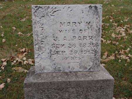 PARR, MARY H. - Warren County, Iowa   MARY H. PARR